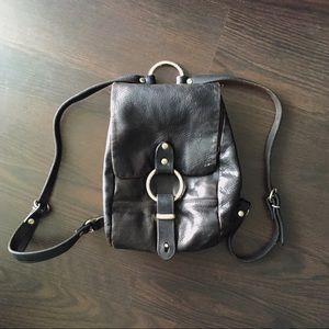 Handbags - Vintage Leather Ring Backpack Bag
